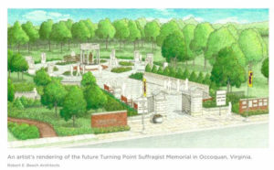 Sketch of proposed women's suffrage memorial
